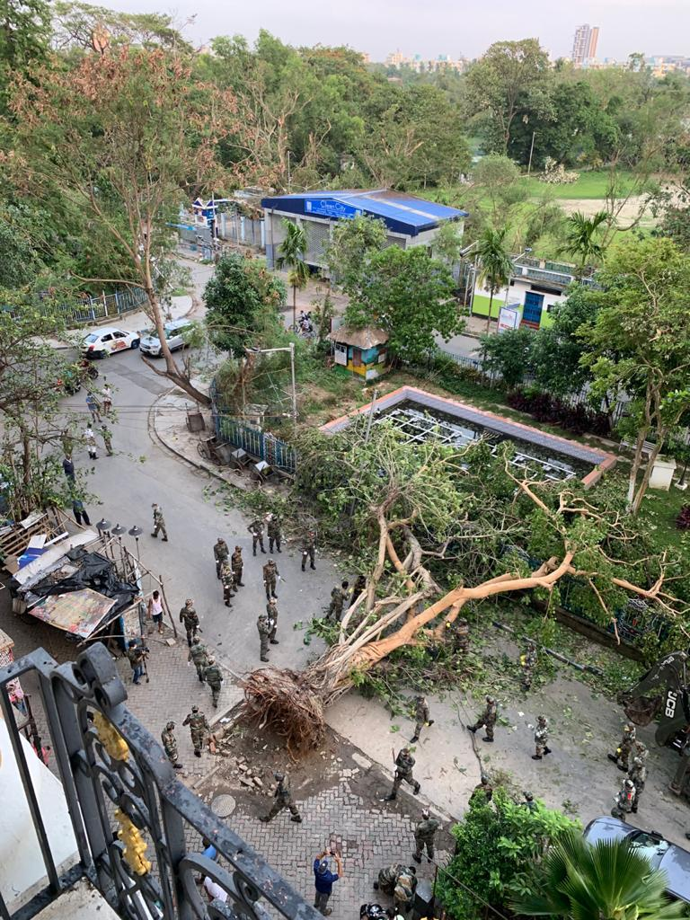 Army helping in Southern Avenue